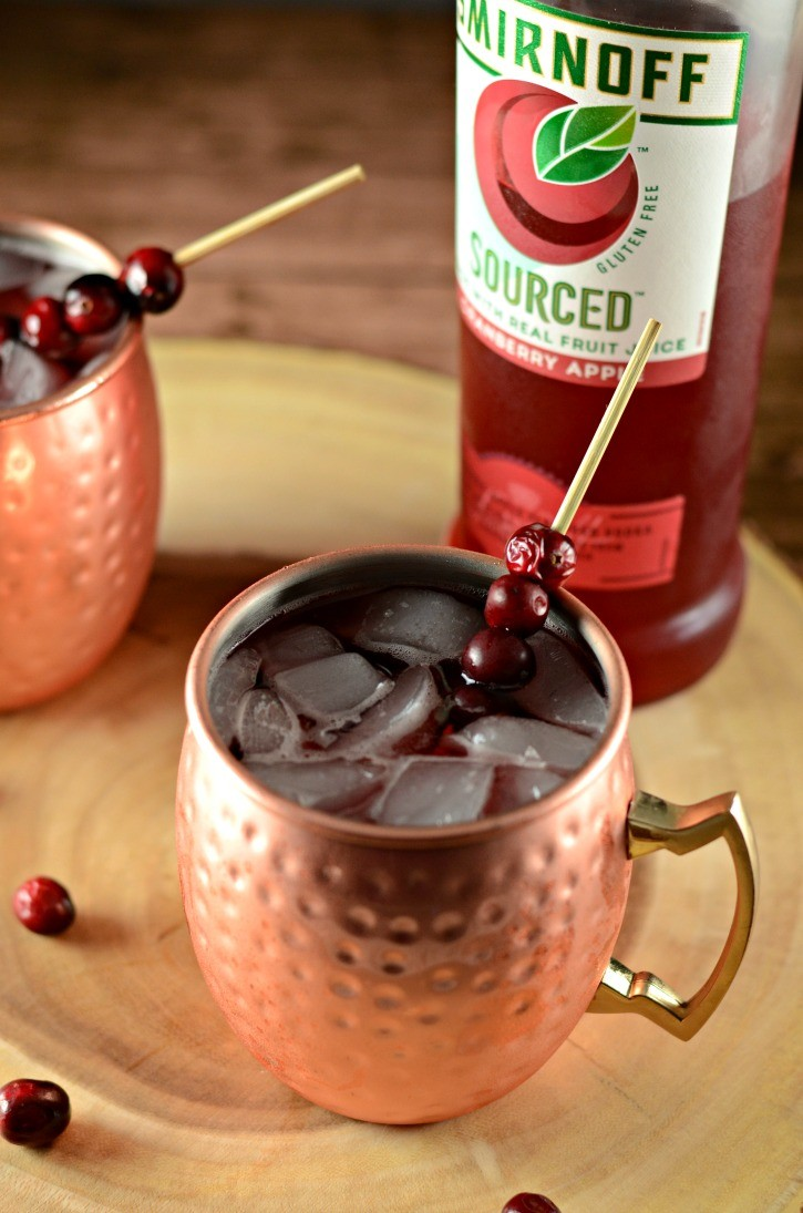 Smirnoff Sourced Cranberry Apple Moscow Mule Cocktail Drink Recipe