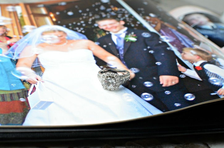 Shane Co Wedding Ring Detail With Wedding Photo