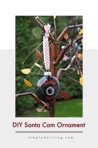 DIY Santa Cam Ornament with Silhouette Cut File
