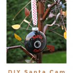 DIY Santa Cam Ornament with Silhouette Cut File