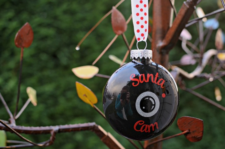DIY Santa Cam Ornament with Free Silhouette Cut File