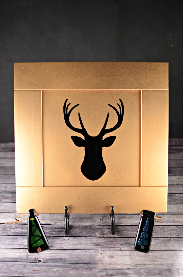 Upcycled Golden Reindeer Decor Simply Darr Ling