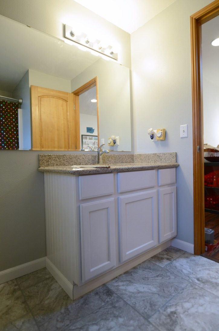 Easy Guest Bathroom Update New Vanity