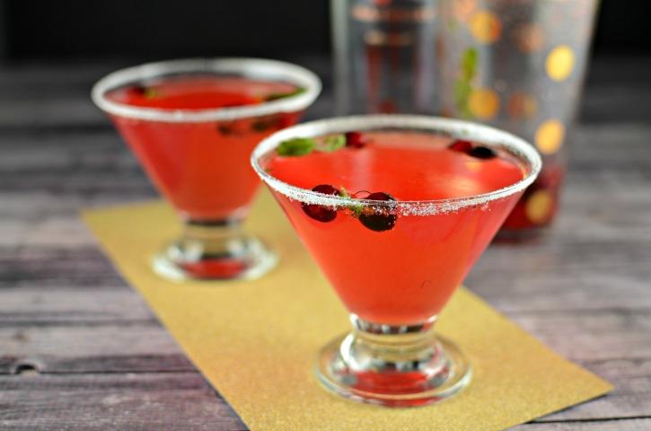 Cranberry Mint Fizz - A Christmas Cocktail Recipe featuring Smirnoff Cranberry Vodka