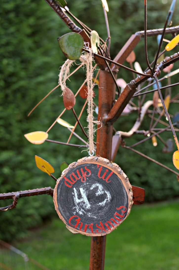 Days 'Til Christmas Chalkboard Countdown Ornament