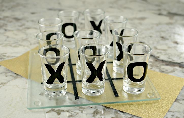 DIY Shot Glass Tic-Tac-Toe Set