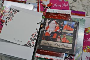 Yearly Christmas Card Storage Booklet
