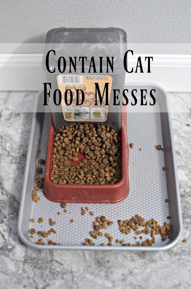 Contain Cat Food Messes - Life Hack
