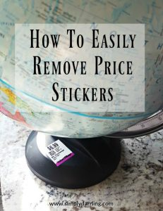 How to Easily Remove Price Stickers