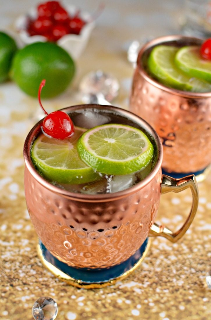 cherry lime moscow mule cocktail recipe simply darr ling. Black Bedroom Furniture Sets. Home Design Ideas