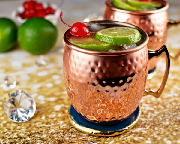 Cherry Lime Moscow Mule Cocktail Recipe