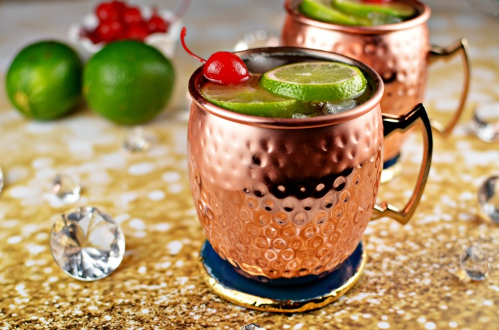 Cherry Lime Moscow Mule with Smirnoff No. 21 Vodka