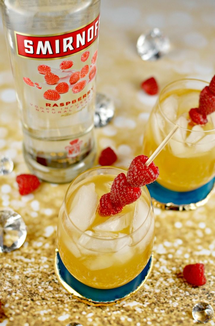 Raspberry Passion Fruit Kiss Cocktail with Smirnoff Raspberry Vodka