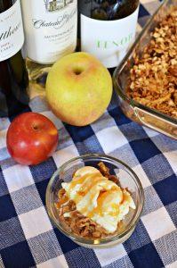 Delicious Washington Apple Crisp with wine pairings