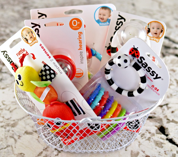 Sassy Baby Rattle Gift Set Baby Shower Gift Basket Idea