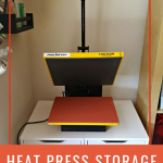 Heat Press Stored on top of IKEA Alex Drawers