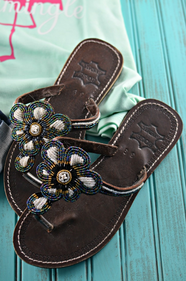 Hand Beaded Sandals for Summer Outfits