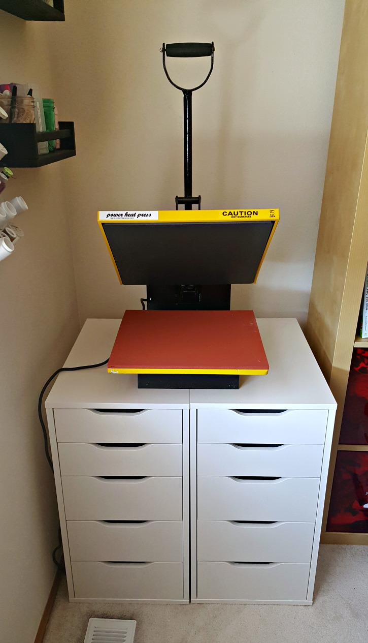 Heat Press Storage Ikea Hack