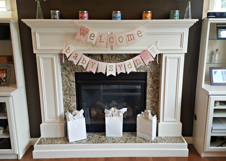 Pink and Gold Baby Shower Banner