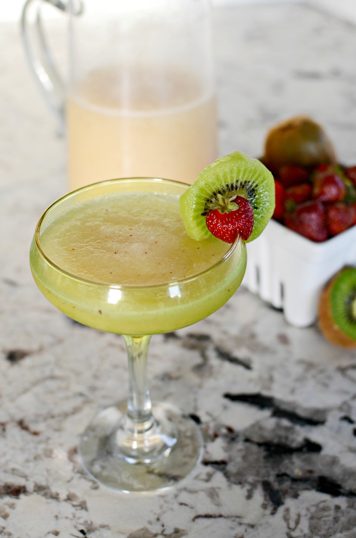 Strawberry Kiwi Lemonade Margarita - A Cocktail Recipe