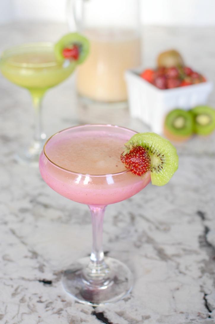 Strawberry Kiwi Lemonade Margarita - A Cocktail Recipe