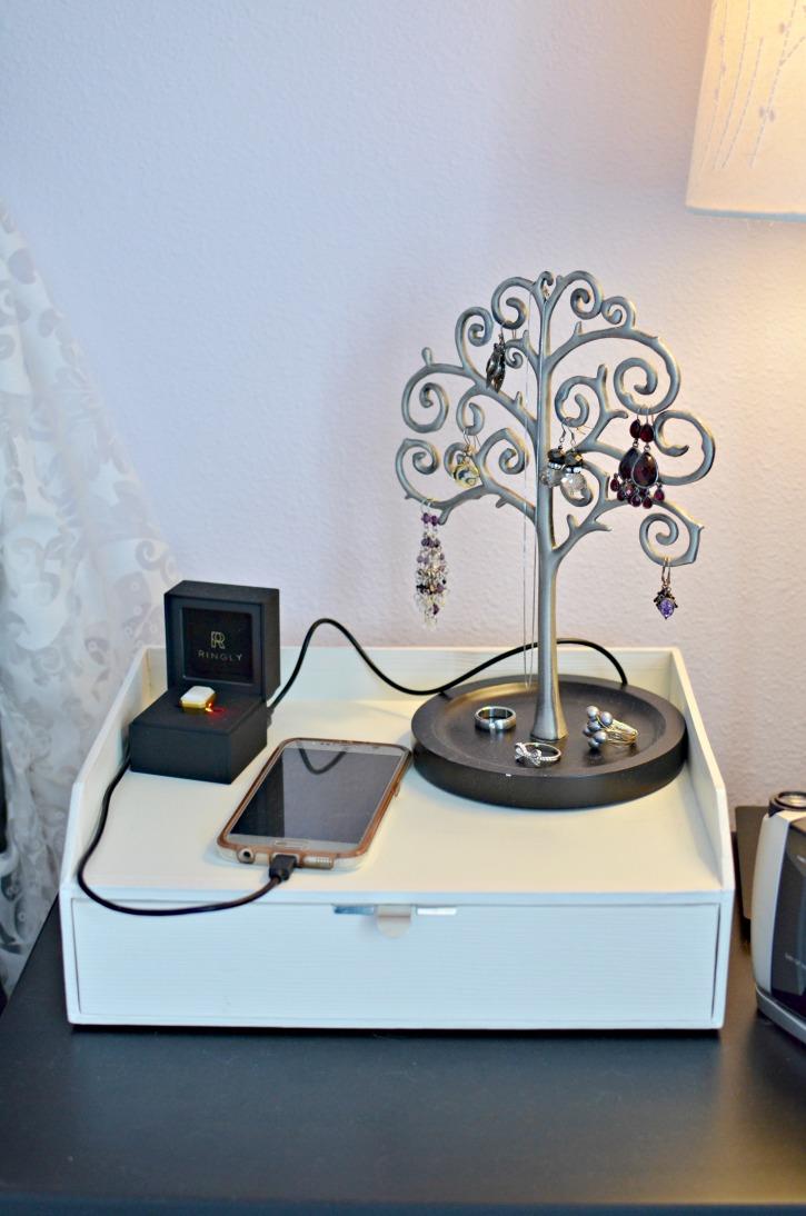 Easy DIY Nightstand Phone & USB Charger