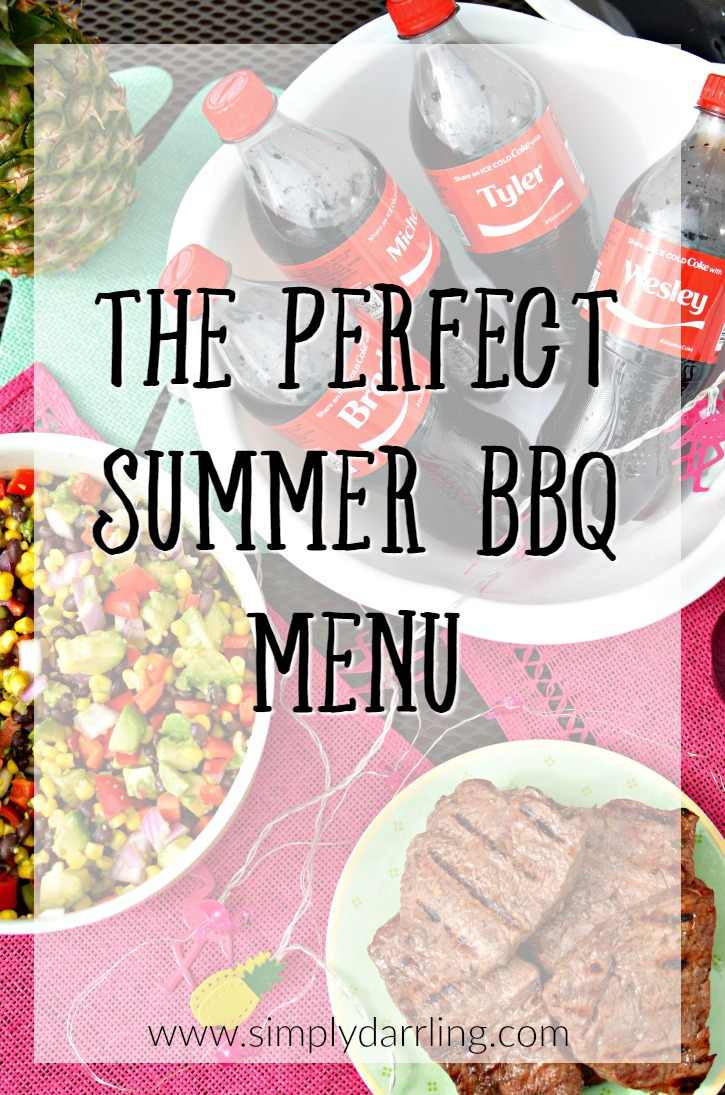Share An Ice Cold Coke - Perfect Summer BBQ Menu
