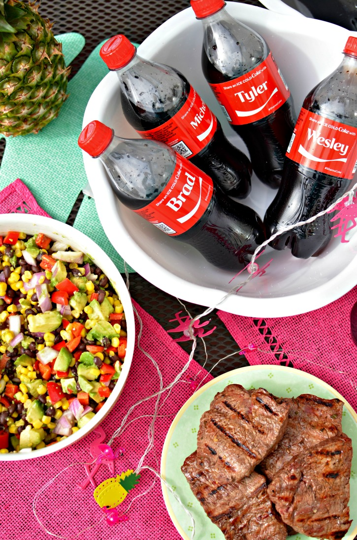 Share An Ice Cold Coke - Perfect Summer BBQ Menu & Steak Marinade
