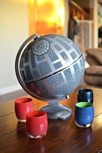 Star Wars Upcycled Globe Death Star