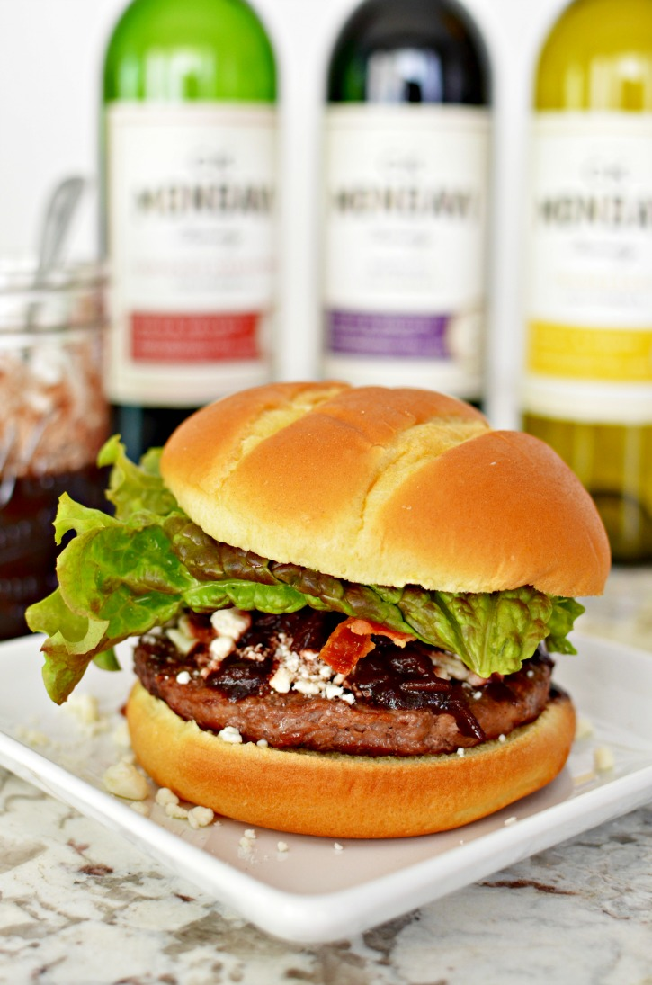 how to make burger with feta cheese