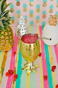Pineapple Raspberry Slushie Cocktail