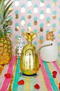 Pineapple Raspberry Slushie Cocktail