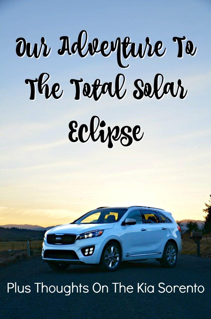 2017 Total Solar Eclipse & Kia Sorento