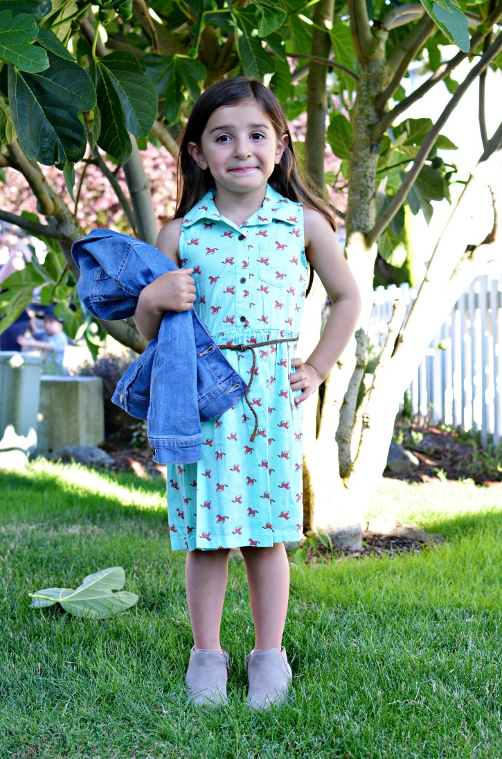 Back to School Horse Dress with Jean Jacket from Kohl's