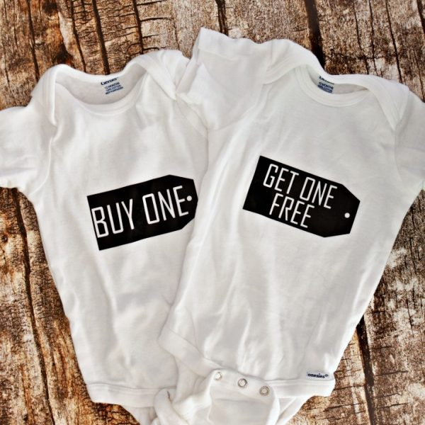 Twin Baby Shower Onesies