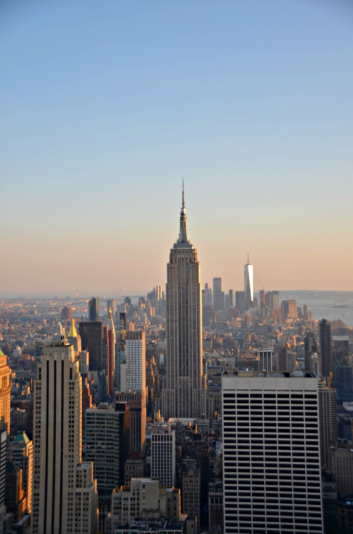 Empire State Building and lower Manhattan from Top of the rock