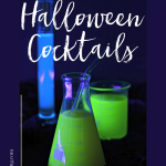 Halloween Cocktails That Glow In The Dark with a Black-light