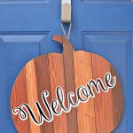 Front Door Pumpkin Welcome Sign