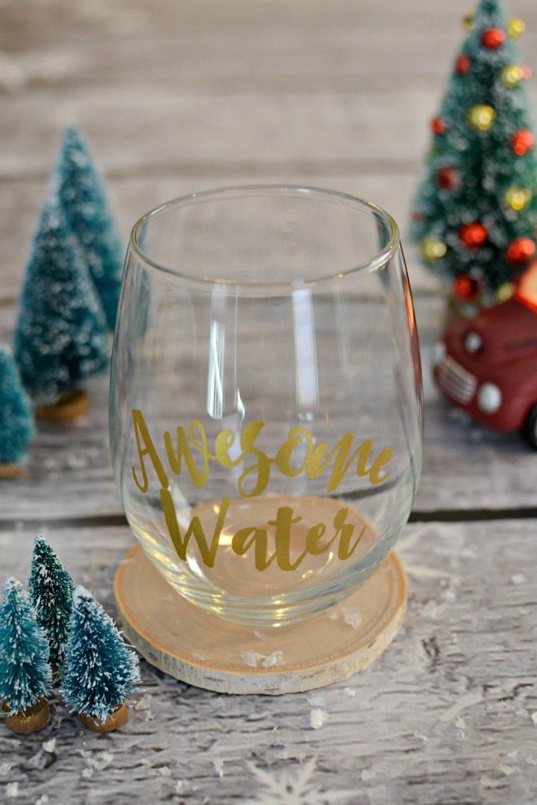 Awesome Water Wine Glass - Free SVG & Stuido3 File