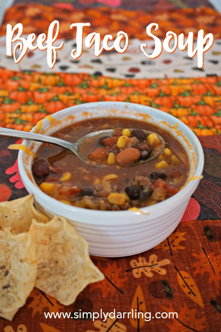 Beef Taco Soup with Bush's Beans