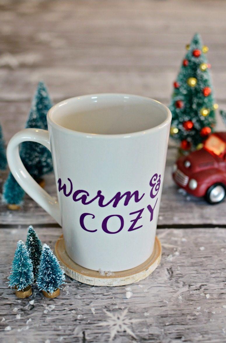 Warm & Cozy Coffee Mug with free cut file