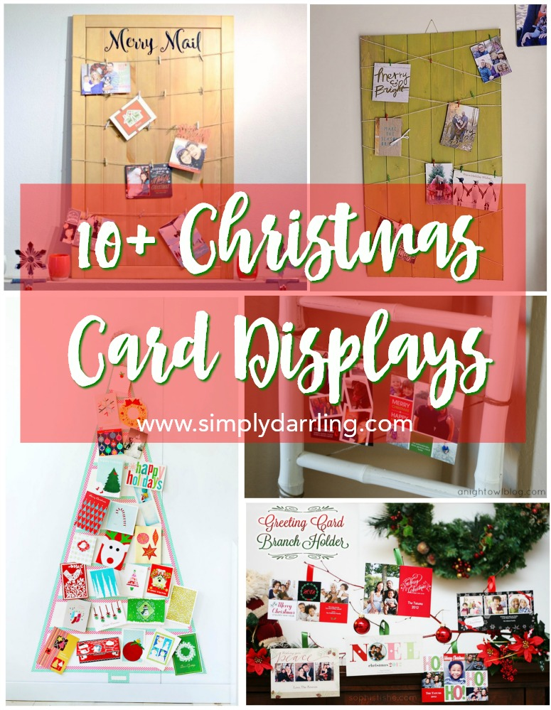 10+ Christmas Holiday Card Displays