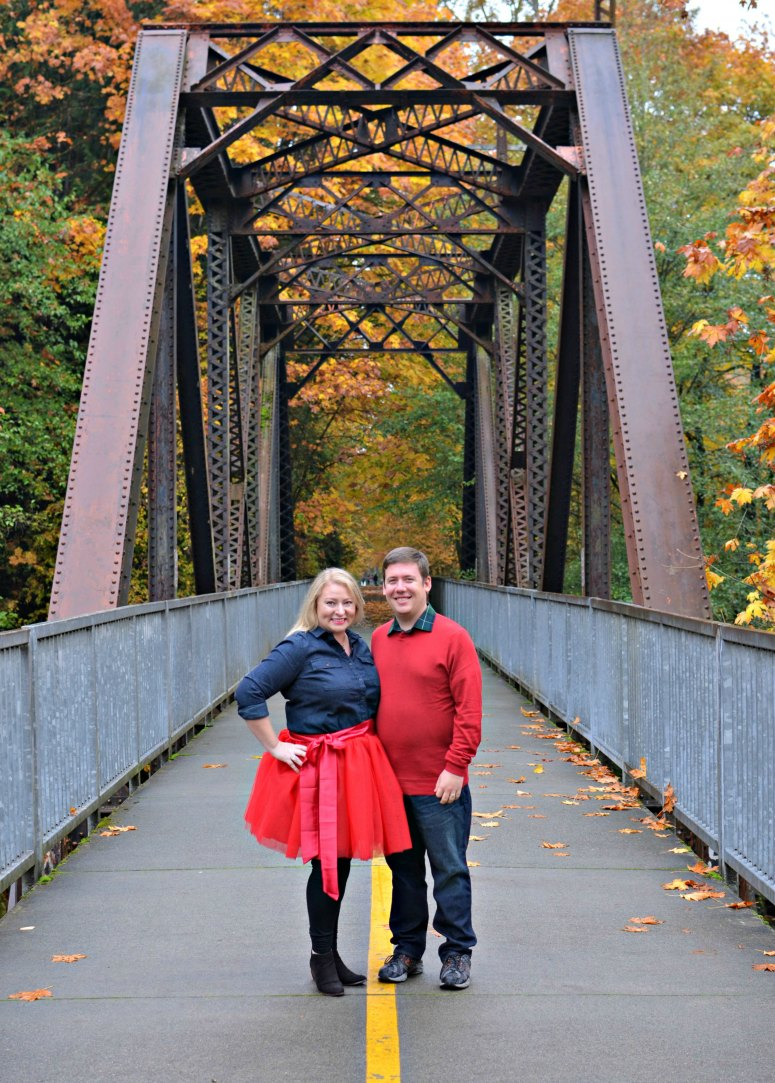 Christmas Card Outfit Inspiration With Red Tulle Skirt