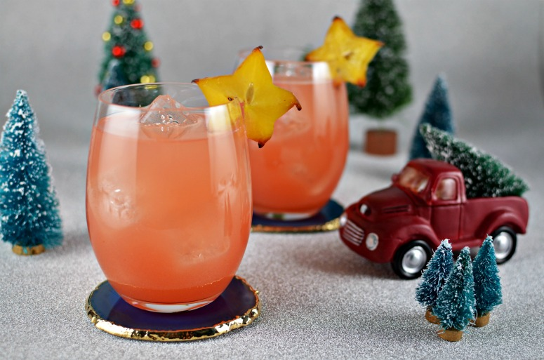 Starfruit, Guava, Cranberry Cocktail