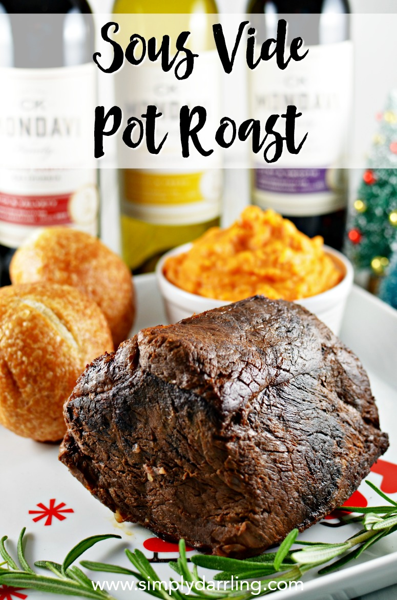 Recipe and wine pairings for sous vide chuck roast