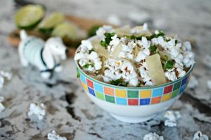 Cilantro, Lime, & Parmesan Popcorn