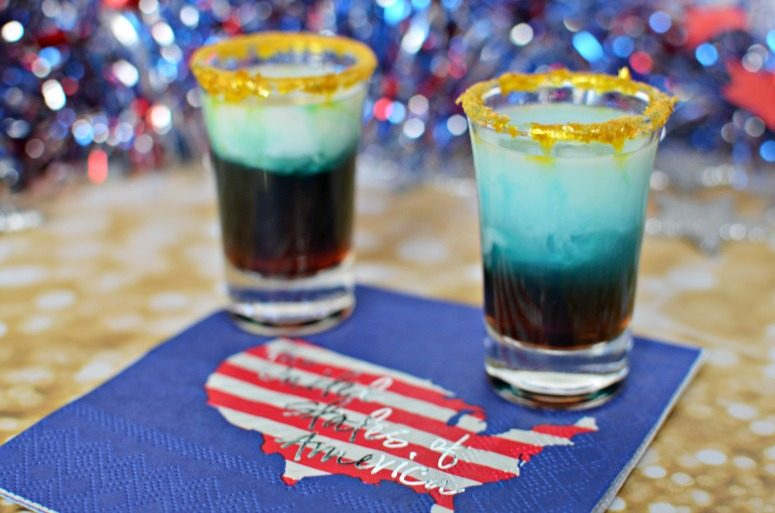Winter Olympics Inspired Red, White, & Blue Shot