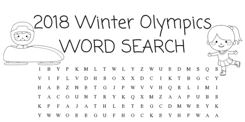 Winter Olympics Activities For Kids Word Search Simply