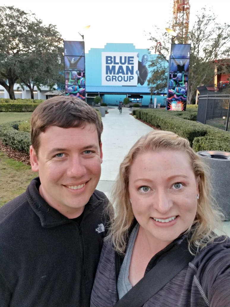 Couple at Blue Man Group Orlando