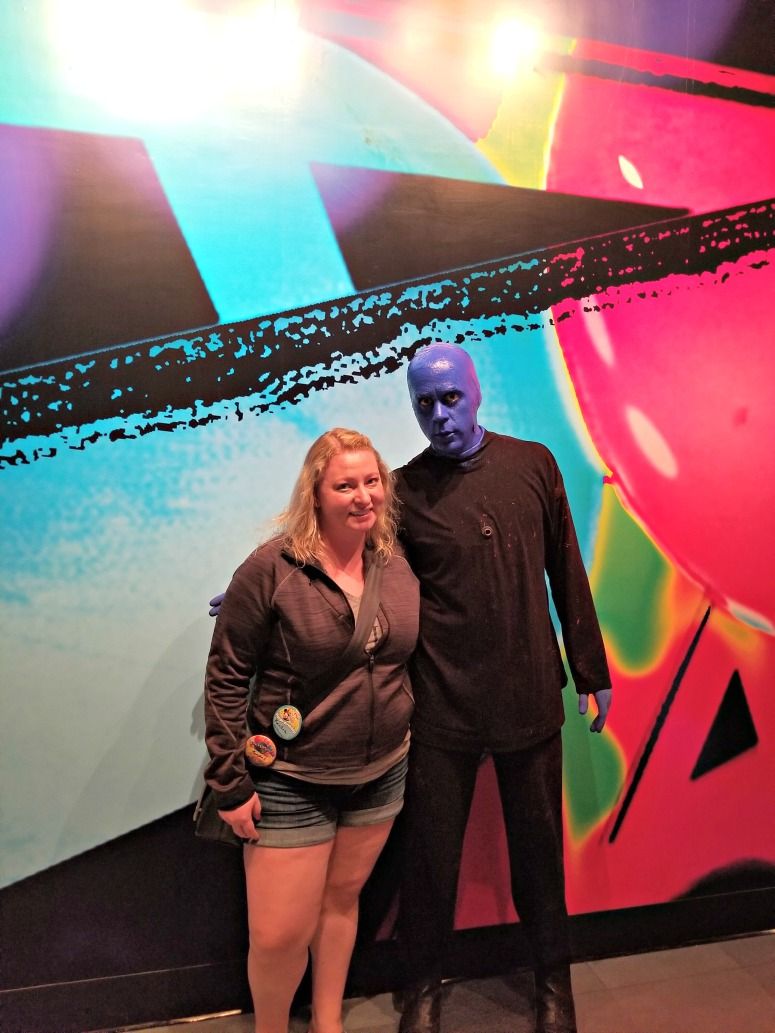 Woman with Blue Man Group Orlando